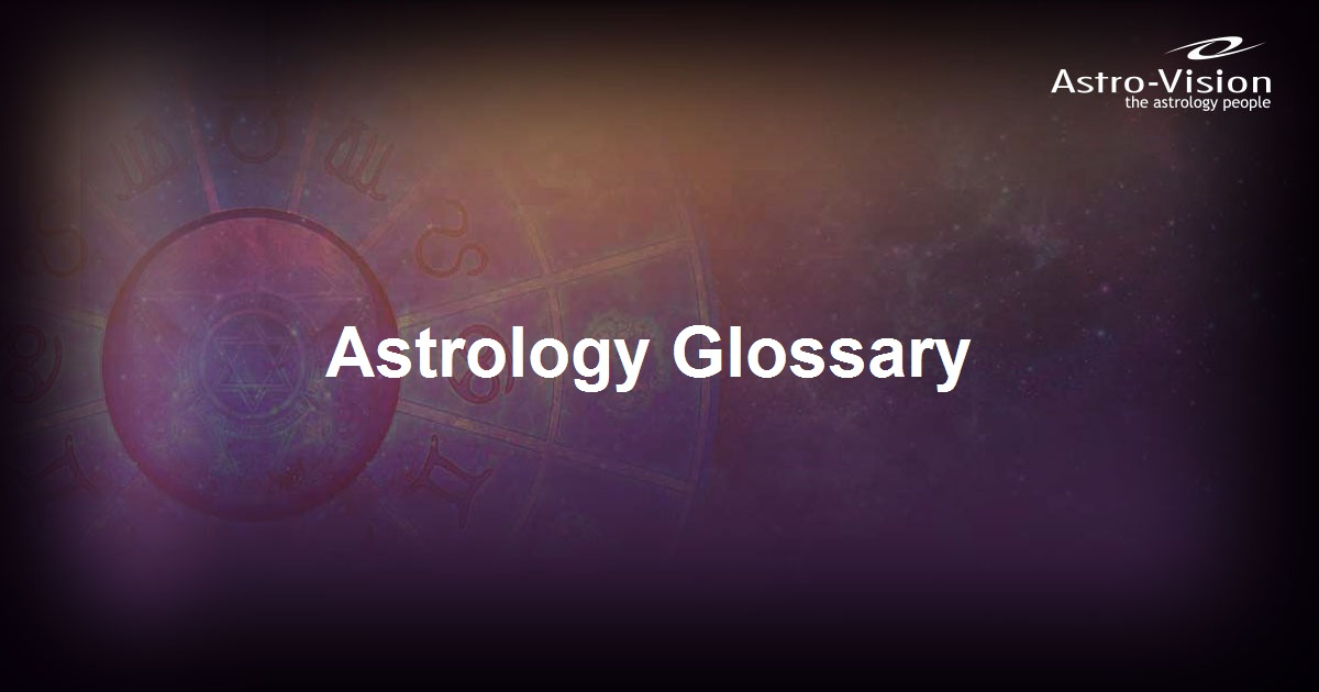 Astrology Glossary | Astrology Terms Meaning