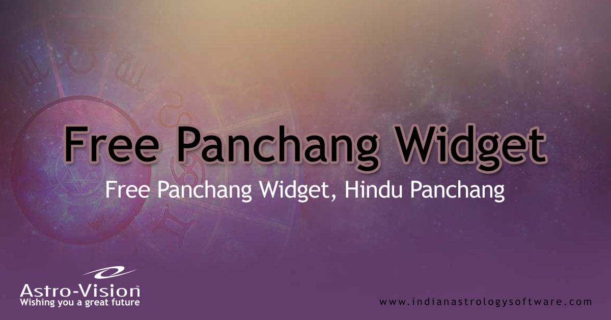 Free Panchang Widget, Astrology Widget - Astrology Tools