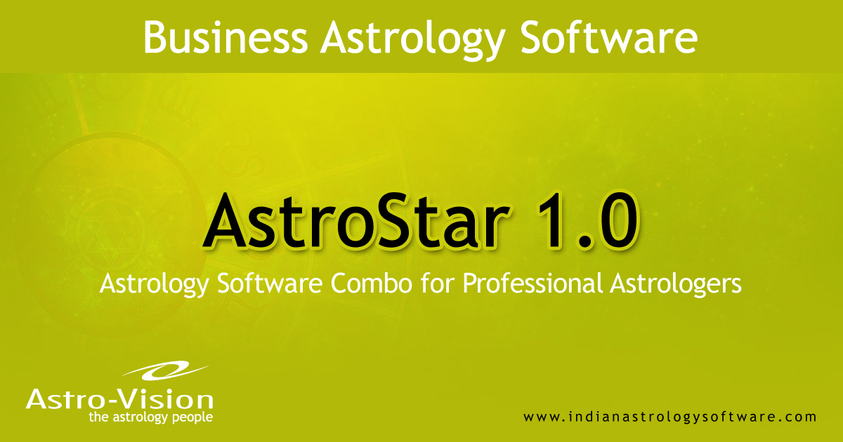 Astrology Software Combo for Astrology Professionals - AstroStar