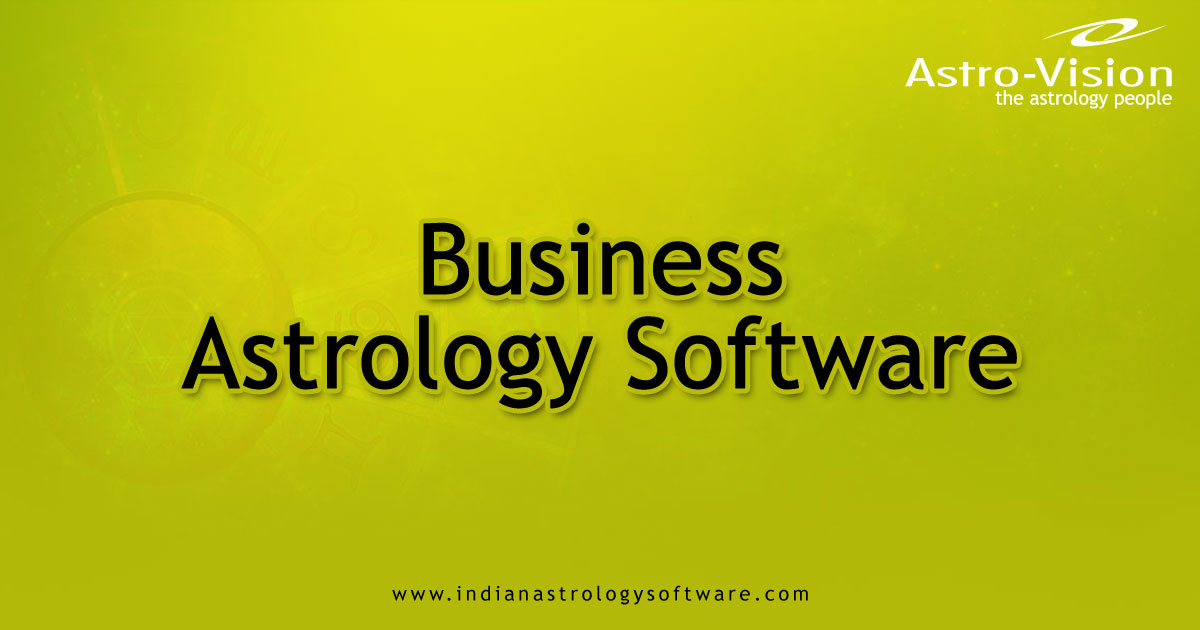 Business Astrology Software From Astro Vision