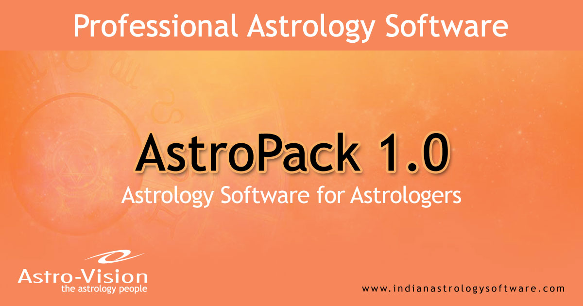 Astrology Software for Astrologers - AstroPack® 1 0
