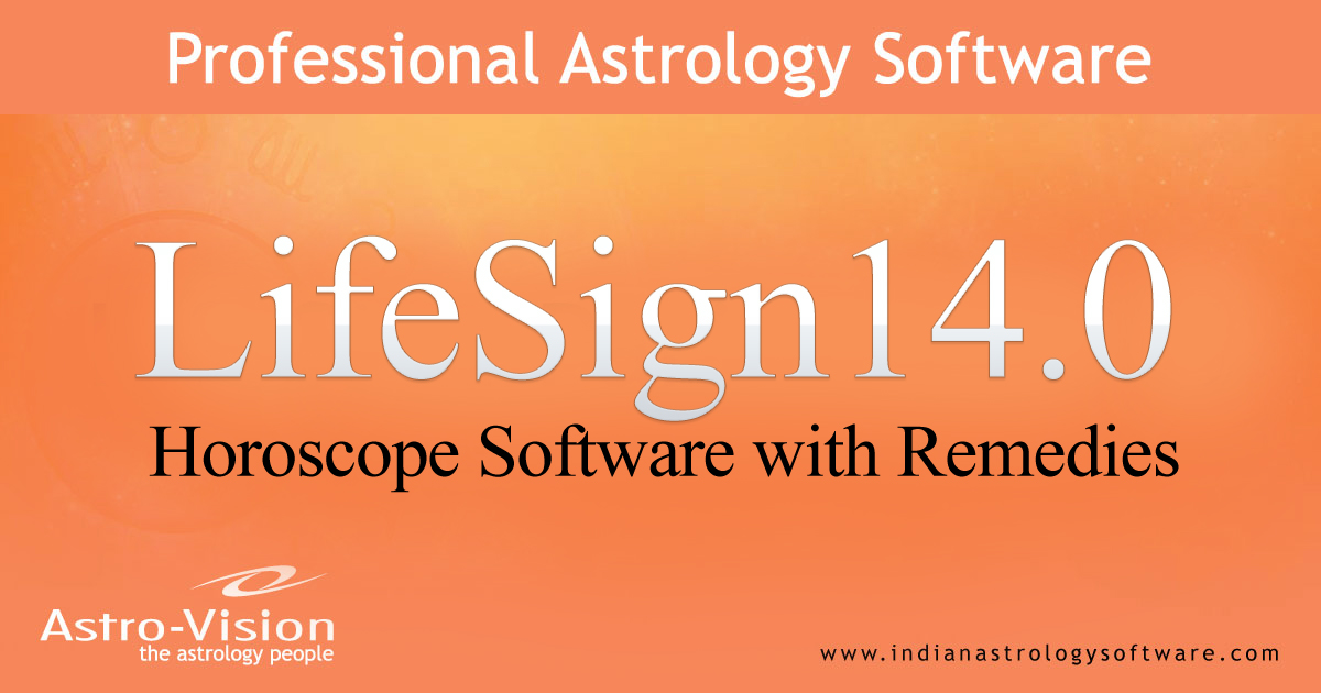 Lifesign astrology software from astro-vision.